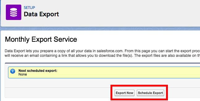 restore salesforce objects Data Export